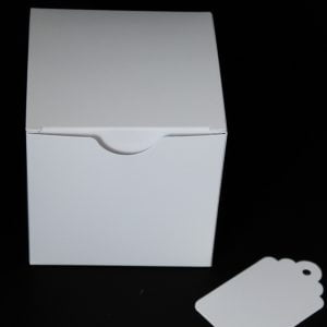 100mm square White box with crash lock base.