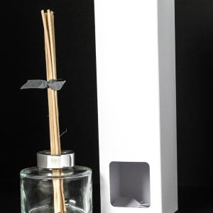 100ml White Reed Diffuser box with window.