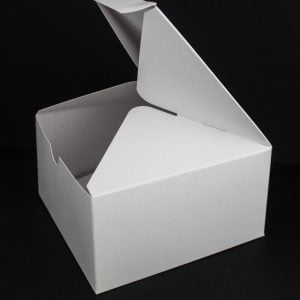 50cl White candle box with a web top.