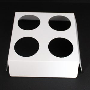 White votive fitment for 4 x 9cl candles to fit our 50cl Candle box.