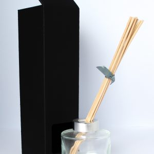 100ml solid matt Black Reed Diffuser box no window.