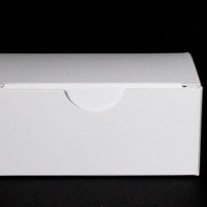 White gift box 92mm(W) x 56mm(D) x 40MM(H) made from a 380gsm White folding box board.