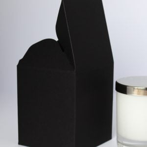 20cl 460gsm ultra Matt Black candle box with a web top.