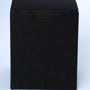 9cl candle box with a crash lock base made from a 460gsm ultra Matt Black board