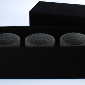 400gsm ultra Matt Black votive candle box to fit 3 x 9cl candles.