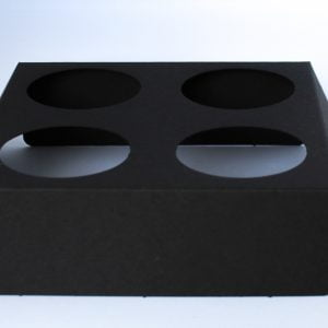 Matt Black votive fitment for 4 x 9cl candles to fit our 50cl Candle box.