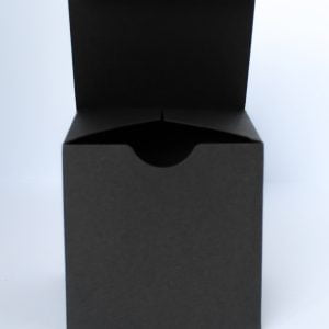 100mm square Matt Black candle/gift box with crash lock base.