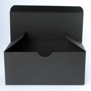Matt Black gift box 160mm(W) x 70mm(D) x 70mm(H) made from a 400gsm Black board.