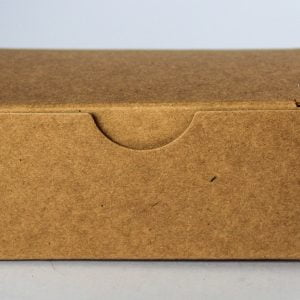 Kraft gift box 92mm(W) x 56mm(D) x 40MM(H) made from a 350gsm 100% recycled board.