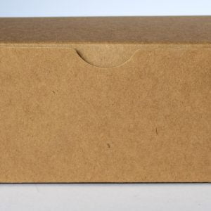 Kraft gift box 160mm(W) x 70mm(D) x 70mm(H) made from a 350gsm 100% recycled board.