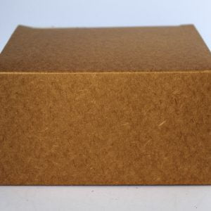 50cl Kraft candle box with a web top made from a 380gsm fsc certified board.