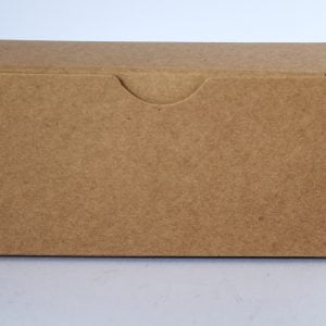 Kraft gift box 130mm(W) x 50mm(D) x 65mm(H) made from a 380gsm eco kraft board.