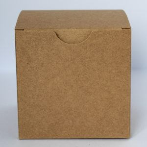 100mm square Eco kraft candle/gift box with crash lock base.