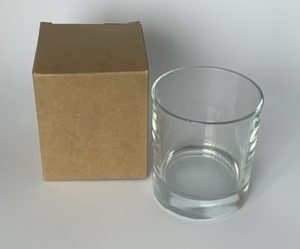 30cl Kraft candle box with a web top.