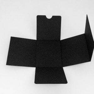 Black corrugated e flute candle box liner for our 30cl web top candle boxes