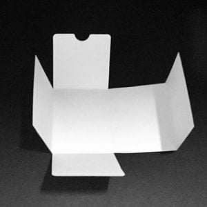 White corrugated n flute candle box liner for our 30cl web top candle boxes