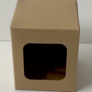 20cl Kraft candle box with a web top and a window
