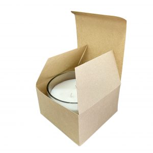 50cl Kraft triple wick candle box made from a 380gsm fsc certified board.