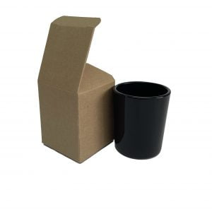 9cl Kraft candle box with a web top and envelope base.