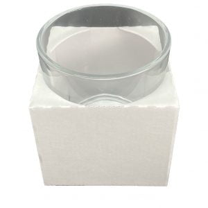 White corrugated e flute candle box liner for our 50cl tall web top candle boxes